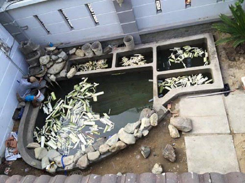 Xử lý hồ cá trước khi đưa vào thả