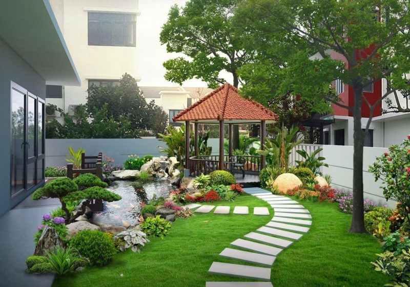 Với cách cắt tỉa tạo dáng cây cảnh chuẩn cho sân vườn sẽ tạo nên một không gian đẹp và ấn tượng