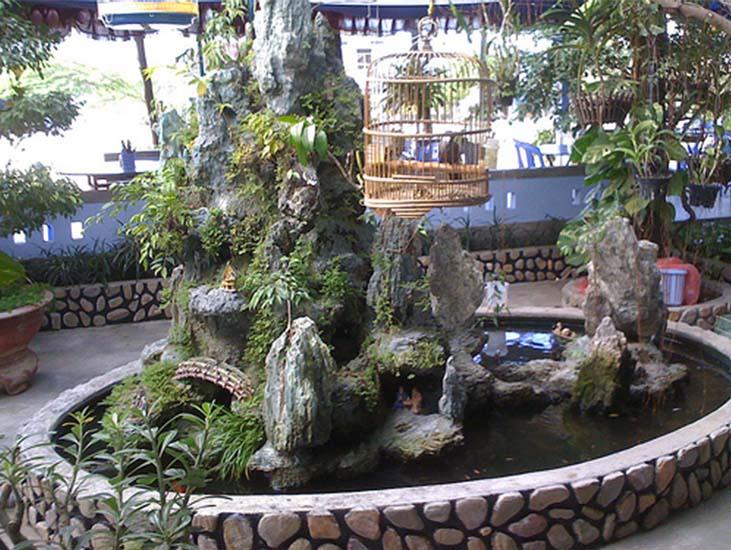 Một số mẫu hòn non bộ đẹp do vườn Thắng Dung thực hiện công trình cho khách