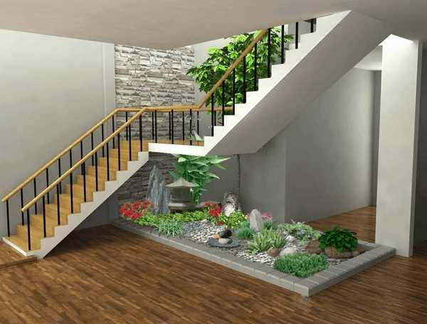 Một số mẫu thiết kế gầm cầu thang đẹp của vườn Thắng Dung