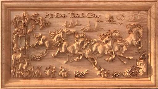 Bức tranh mang lại nhiều tài lộc cho gia chủ và các thành viên trong nhà
